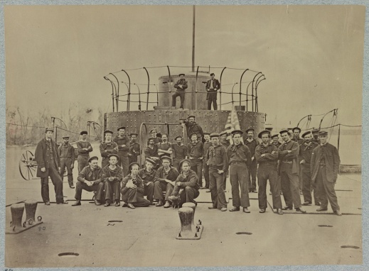 Crew on deck of monitor Lehigh, James River, Va., courtesy of the Library of Congress, http://www.loc.gov/pictures/item/2013647357/